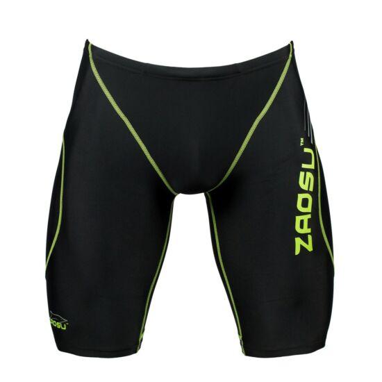 ZAOSU-BLACK AND GREEN LINE - fiú száras úszónadrág